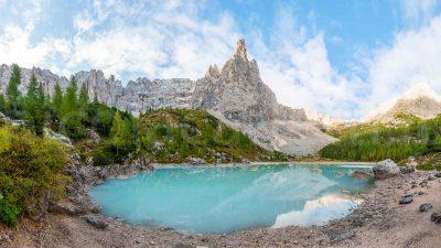 Lago di Sorapis panoramica